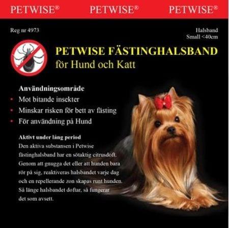 Petwise flåtthalsbånd for hund opp til 40 cm