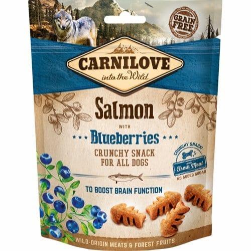 Carnilove Crunchy snack med laks og blåbær 200g