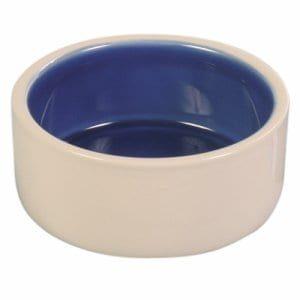 Matskål keramikk med blå innside