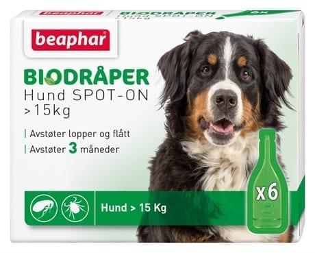 Beaphar Biodråper til hund over 15kg