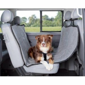 Trixie Bilseteteppe hund lysegrå 1,45x1,60m