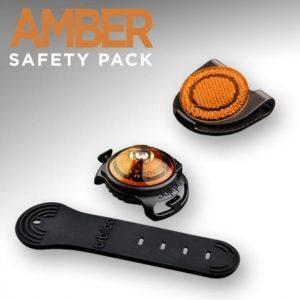 Orbiloc Orbiloc Amber Safety Pack, light + reflective clip