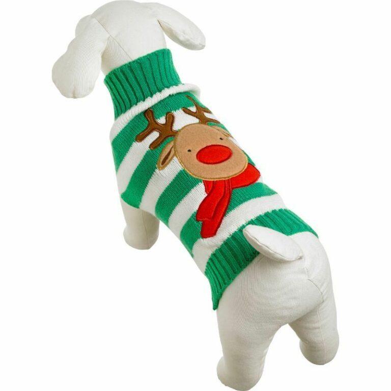 Good Boy strikket julegenser hund