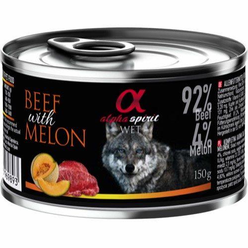 Alpha Spirit oksekjøtt og melon-monoprotein
