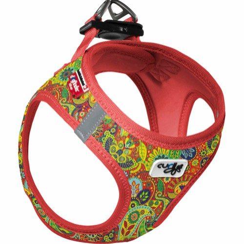 Curli Vest sele Air-Mesh Red-Floral