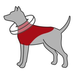 trixie oppblåsbar hundekrage