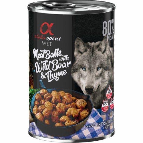 alpha spirit våtfôr hund kjøttboller