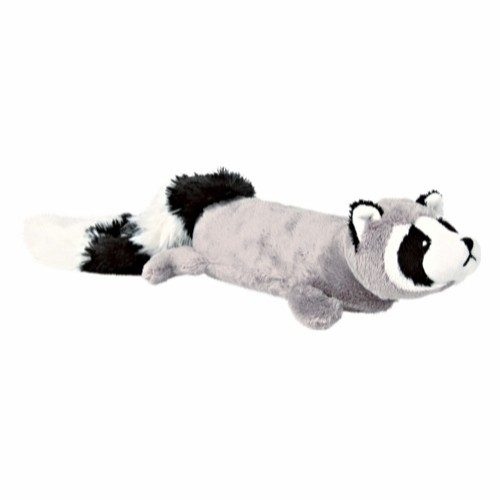 trixie racoon dog toy hundeleke plysj