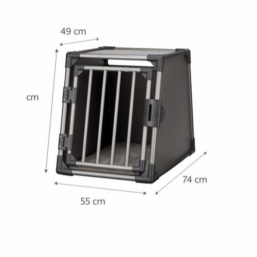 Bilbur aluminium 55×61×74 cm -grafitt
